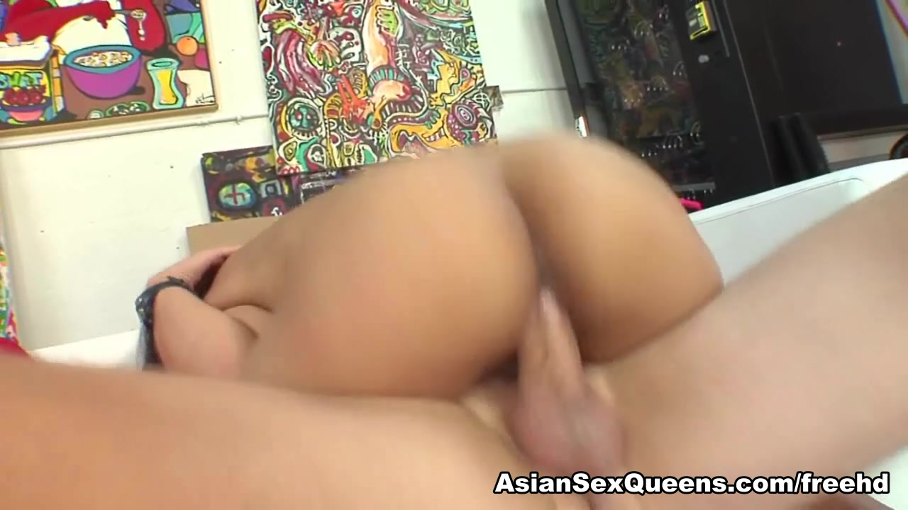 Miako in Asian Scene brunette hardcore tube strap on