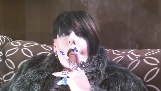 Fur and a cigar. Hairy women over 30