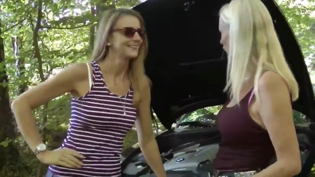 Young Guy Pounds Two Stranded MILFS