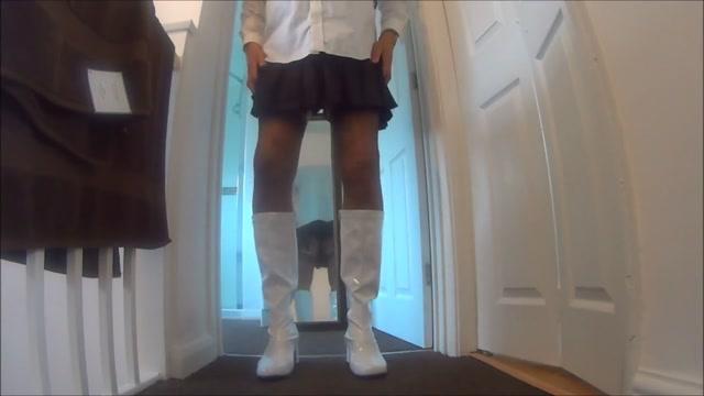 Boots Stockings Suspenders Pleated Skort Jav nude pics