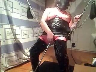 bitch in sling ass playing Mature women blowjobs
