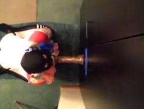 Boytoyslutboy sucking on a big black dildo. Adult downsizing older senior