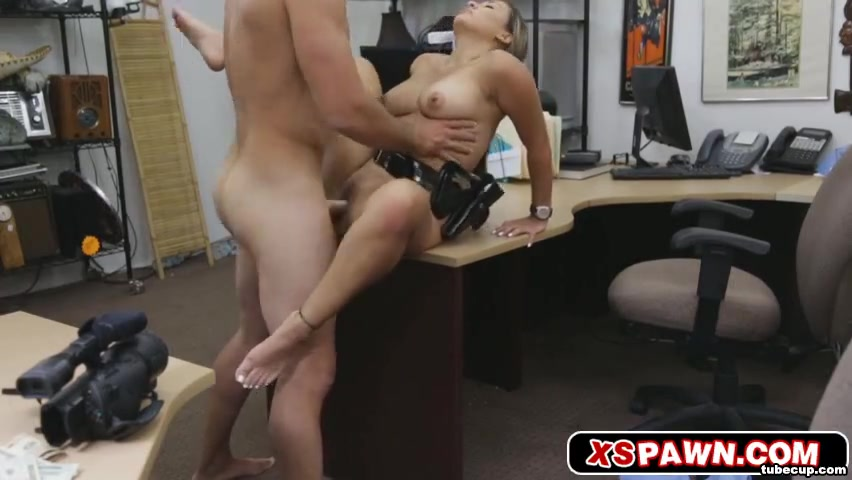 Sexy officer getting her pussy banged Small tits whore blowjob dick and anal