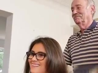 Young Maid Jeleana Marie Blows Her Rich Old Boss big horny dick suckers