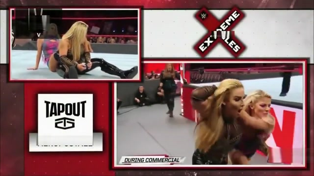 Alexa Bliss Squeezes Natalya With Bodyscissors