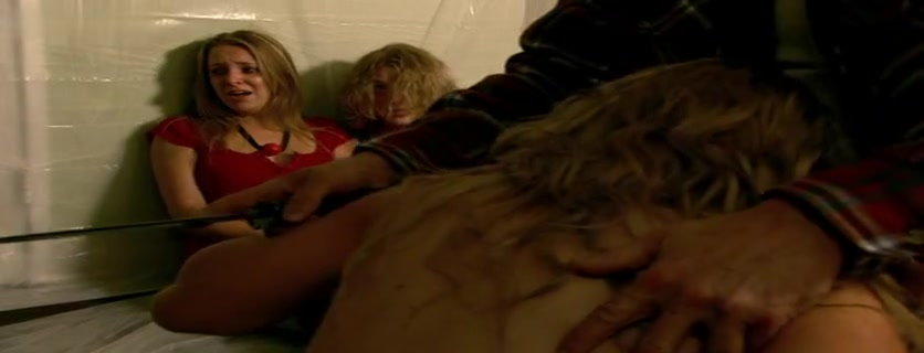 Jessica Bork,Sarah Lieving,Shaley Scott in The Hitchhiker (2007) Fair skin thin big natural tits