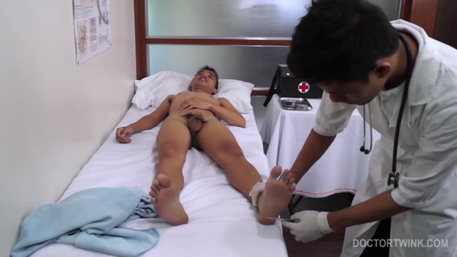 Kinky Simon and Nishi - DoctorTwink Jizz covered interracial milf