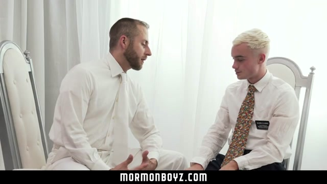 MormonBoyz - Two jealous missionaries fuck each other for their boyfriend gay after party london