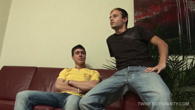 Kosta and Miro - Twinkboysparty dildo home made using woman