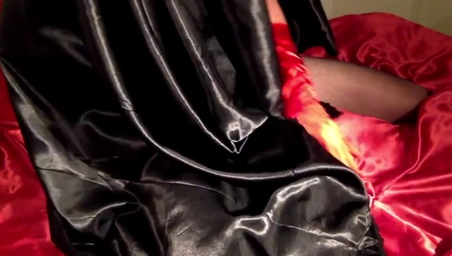 CD Wearing Satin Nightie has a Shaking Orgasm Nude blonde bouncing tits