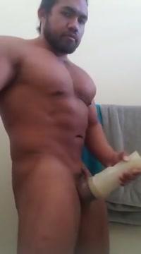 Sexy Muscle Bathroom Fleshlight Jerk Off & Cum 2 people naked having sex