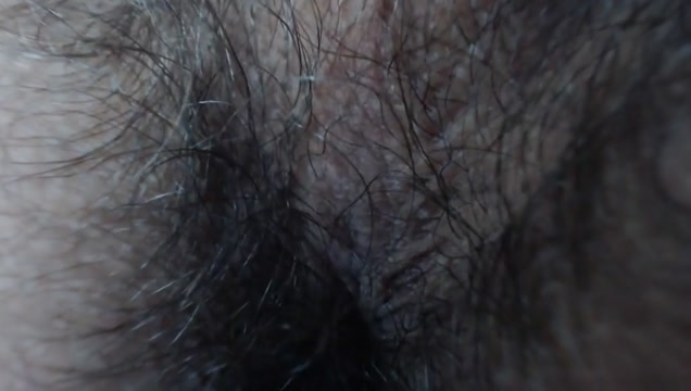 Orgasm contractions of anal hole (close-up) A delicious hairy mature pt 2