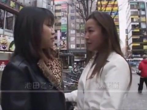 Lesbian Threesome Street Pickup