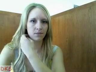 Naughty blonde gets naked on webcam nude blonde in shower