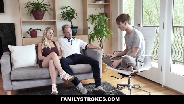FamilyStrokes - Hot Stepmom Rides Stepsons Long Johnson Nude pic of woman with big butt