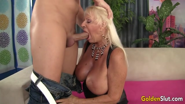 Busty Grandma Mandi McGraw Sucks a Cock and Then Rides It with Enthusiasm Panty wank milf