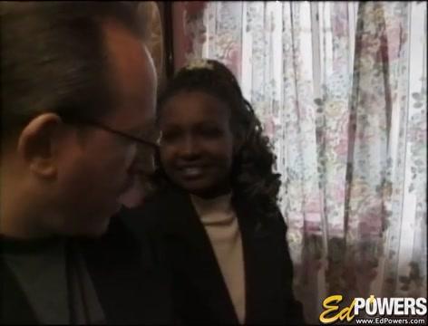 EDPOWERS - Ebony Layla Gates riding for white cum