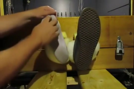 Ticklish Young Asian Jock Has Toes Immobilized and Tickled to Death Fox Tail Plug Video