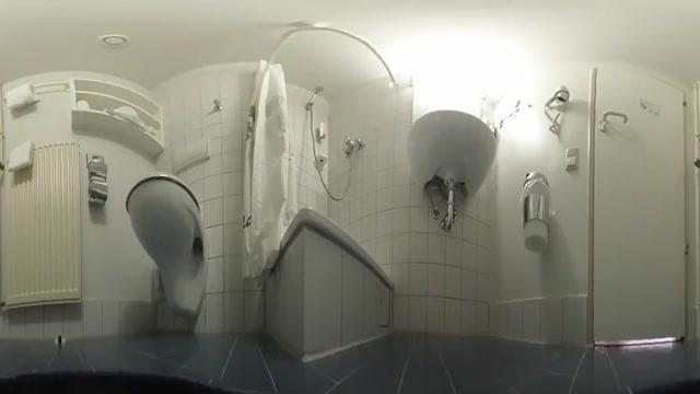 Bathroom VR Big tits female body builders