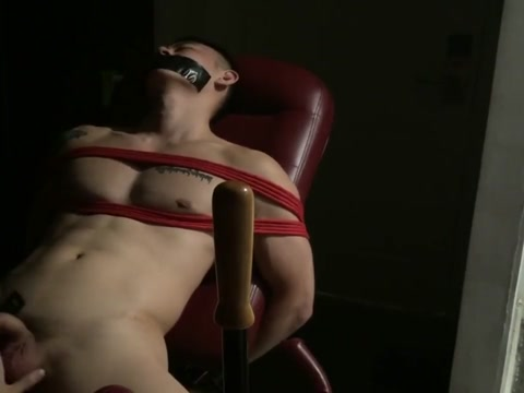 tatto muscle man rope play big cock blow up man with willy