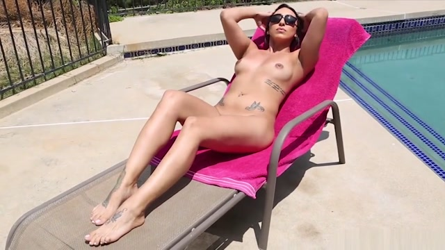 Orion Raye Poolside Foot Fetish Demon girl nude pics