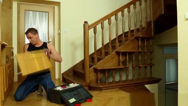 Euro chicks want to make the handyman rock hard