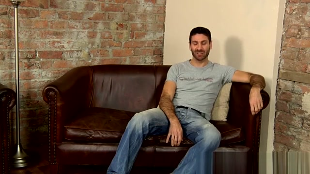 Hairy hunk Craig Daniel stroking his huge uncut cock solo Masseuse Pleases Her Hot Client