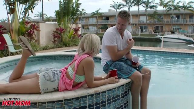 Marsha and Diamond tag team his big pecker together Low cut bikini style panties