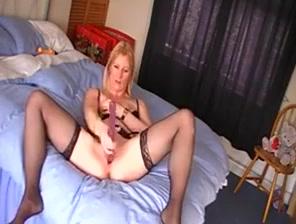 English wife videos herself masturbating