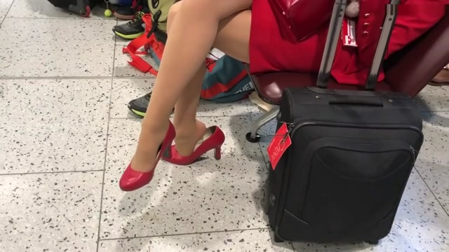 british airways hostess shoeplay in heels ametures playing sex games