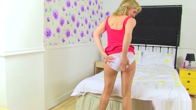 English Milf Diana Wears White Knickers Over Tights aubrey o'day sexy