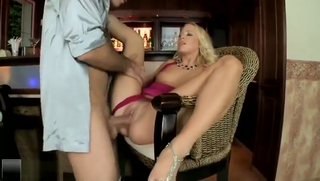 Juicy golden-haired Carla Cox is making a best blowjob of my life
