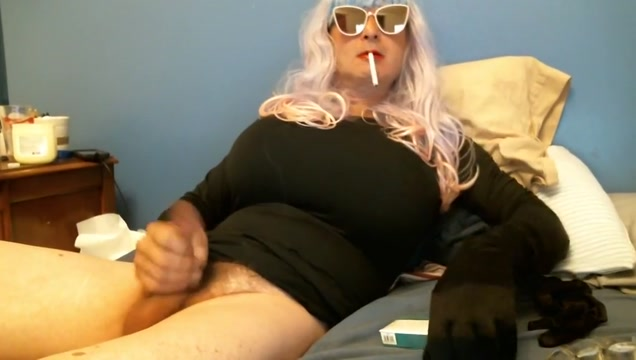 smoking VS 120 in bed part 1 Cum tribute for bbw bride
