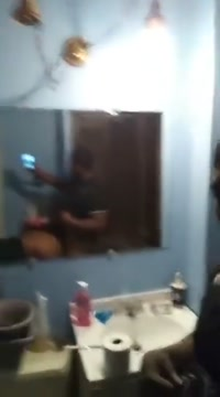 Backshots in the Bathroom...She just keeps cummin