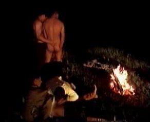 Hot hunks screwing each other by the bone fire Blonde girl handjob cock slowly