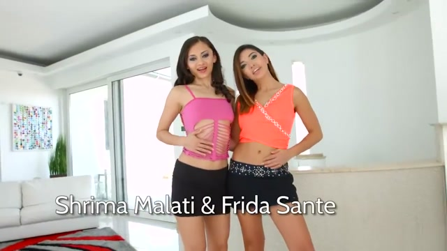 Frida Sante, Shrima Malati in Anal 3some scene(PG) Interracial Lesbians Licking Pussy and Tribbing