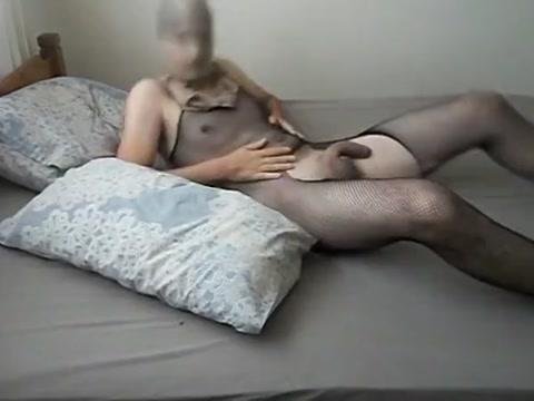 Wanking Jerking off Huge cock in Body Stocking Cute bebs