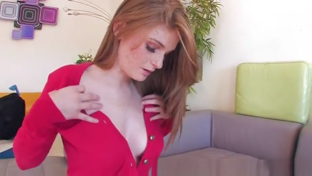Seducing red-haired huzzy attending in amazing blowjob porn