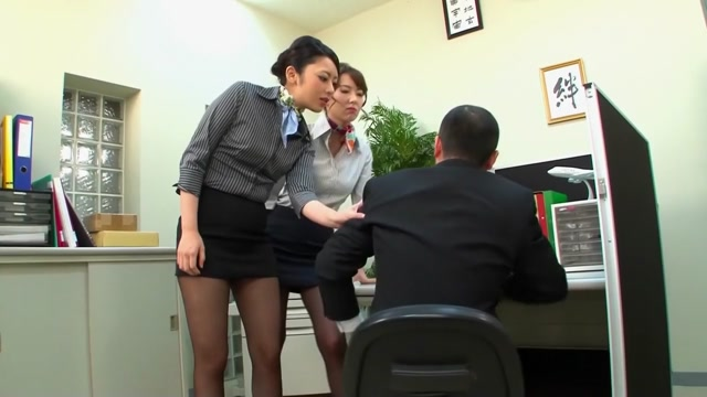 Amazing Japanese whore in Best Office, Threesome JAV movie Red bone chicks naked