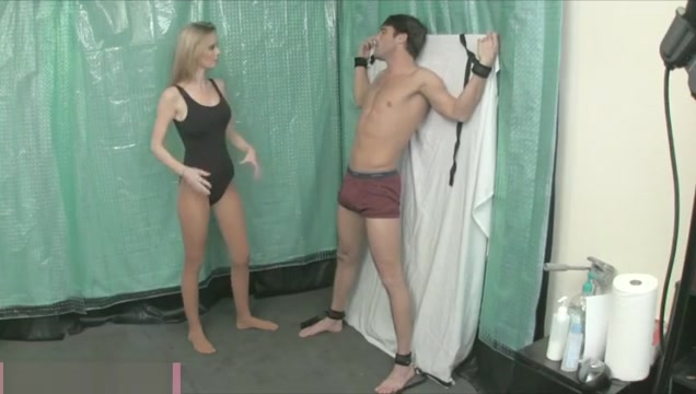 Vanessa - Tied Up Ballbusting Graceful lesbians toying shaved pussies
