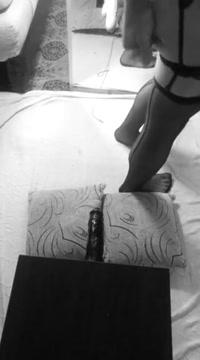 Black & white spitroast in the mirror Bbw valerie aka sandy