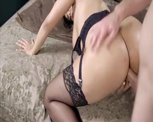 gorgeous brunette hardfucked Derek's always fantasized about touching all her curves