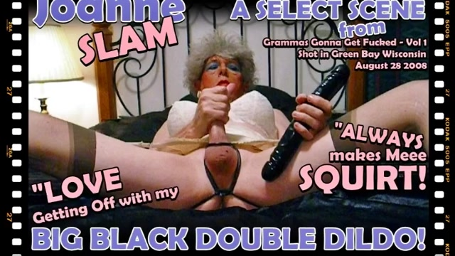 JOANNE SLAM - BIG BLACK DOUBLE DILDO uk amateur wife porn