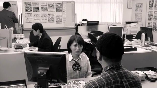 Horny Japanese chick in Exotic Office, Blowjob JAV scene