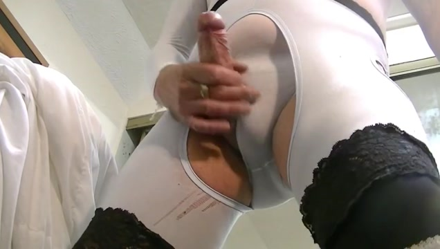 sensual wank on cam in white bodysuit Great big porn
