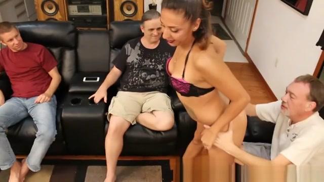 Latina Petite Fucks 3 Lucky Cocks Adult xxx porn movie