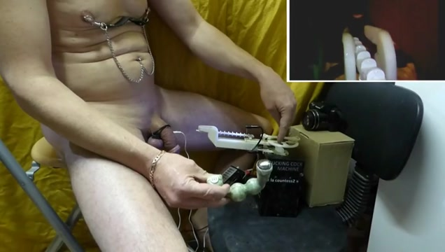 fucking rod notched machine + estim cock 01 Colledge strip tease