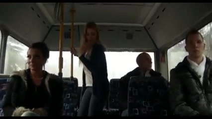 FUCKING IN THE BUS Tight Pusy Tube