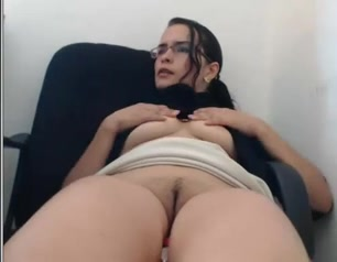 Cute brunette cam girl fucking a big sex toy Water implants