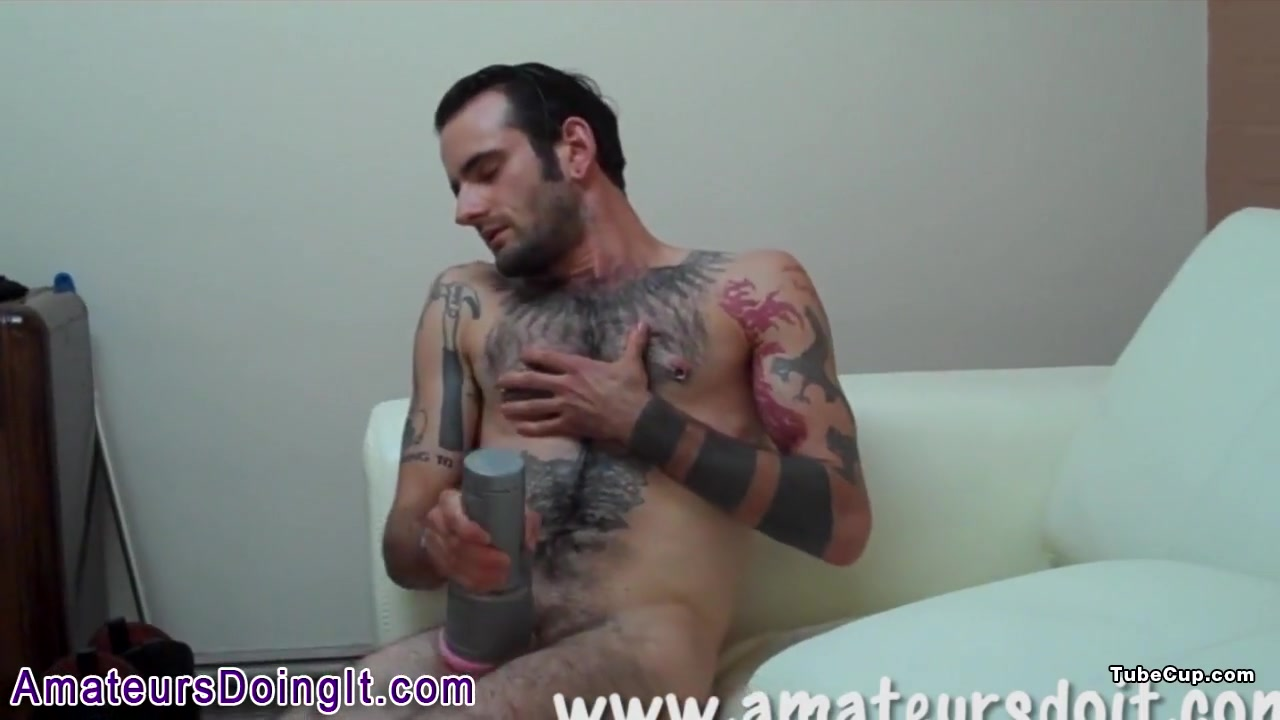 Tattooed amateur fucks Miley shows tits and ass